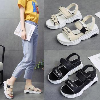 安欣娅新款韩版时尚厚底舒适夏季凉鞋