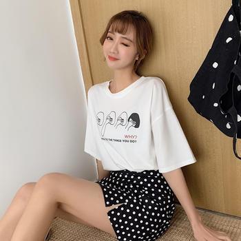 露雪卡通圆领短袖女t恤潮上衣短袖t恤