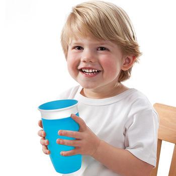 满趣健10盎司Miracle360度防漏洒学饮杯颜色随机MK44142