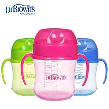 美国布朗博士软吸嘴训练杯颜色随机TC61001