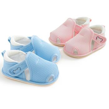 猪猪的故事2019春夏男女宝宝学步鞋半凉鞋软底布鞋