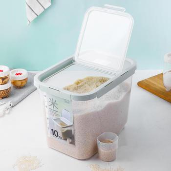 10KG日式厨房大容量家用防潮杂粮储米箱米桶