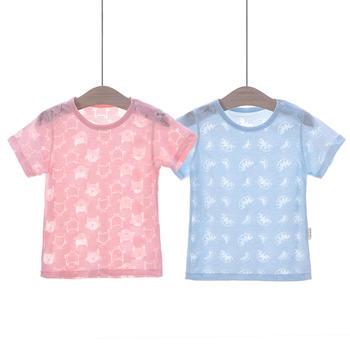 谷斐尔2件装轻薄夏日短袖T恤儿童婴幼儿宝宝圆领上衣