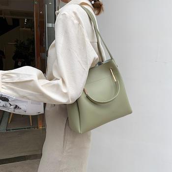 雅诗罗韩版新款手提休闲单肩包包百搭斜挎女包