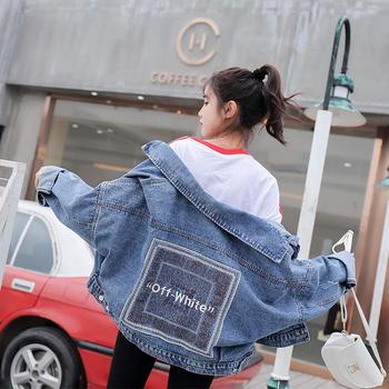 KDN韓版寬松小個子顯瘦牛仔外套女寬松春秋款牛仔衣潮