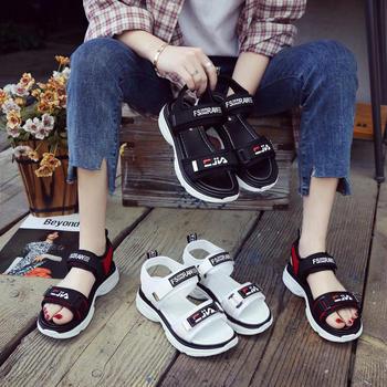 艾薇妮夏季新品厚底运动魔术贴百搭舒适凉鞋