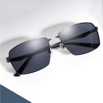 帕森偏光太阳镜男 金属方框司机开车驾驶镜潮墨镜