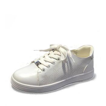 鞋柜春款休闲童鞋中大童板鞋 学生小白鞋