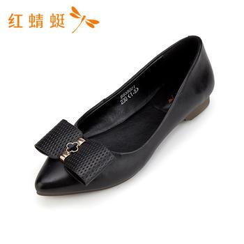 红蜻蜓专柜正品新款时尚百搭尖头浅口单鞋女B85502