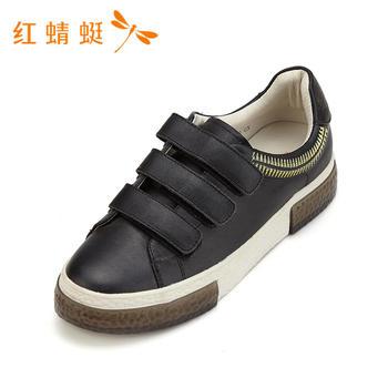 红蜻蜓新款女鞋平底舒适休闲款魔术贴女单鞋B88068