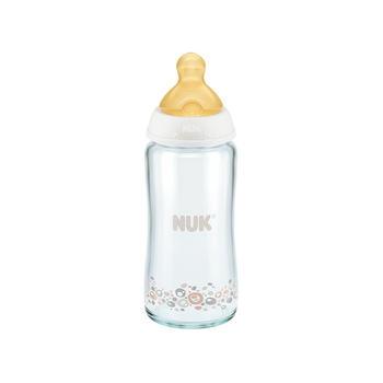 NUK 宽口径耐高温玻璃彩色奶瓶240ML