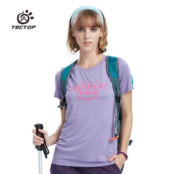 探拓 外T恤短袖透气运动健身速干衣 女款
