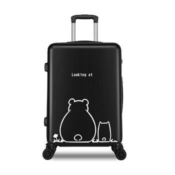 萨兰丹迪韩版小清新旅行箱时尚印花大学生拉杆箱
