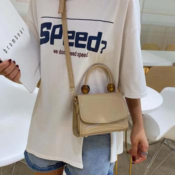 宾尼兔韩版新款漆皮女包手提包包简约百搭单肩包