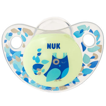 NUK 夜光型硅胶安抚奶嘴1只装 一般型6-18个月