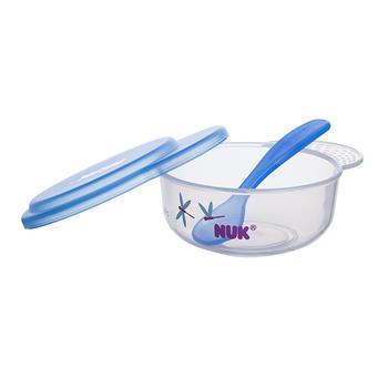 NUK宝宝餐具套装 婴儿碗勺组合颜色随机发