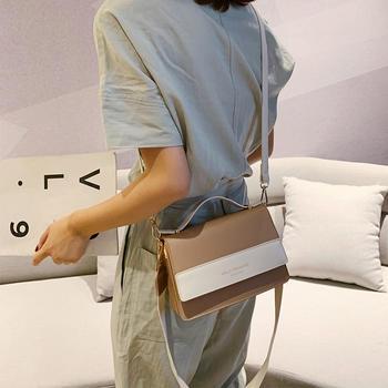 雅涵2019新款韩版配色女包手提包百搭单肩斜挎小方包