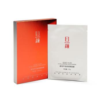 目颜酵母芦荟玻尿酸补水保湿胶原蛋白日本384蚕丝面膜