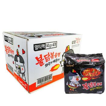 韩国进口三养超辣鸡肉味火鸡面140g*40袋整箱