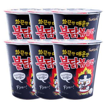 韩国三养火鸡面70g*6杯网红超辣鸡肉味拌面方便泡面