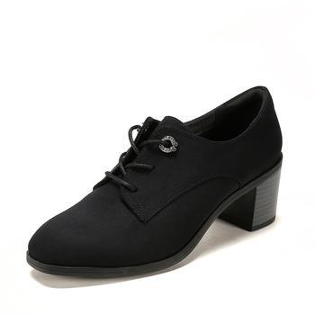 SHOEBOX/鞋柜优雅方头系带休闲?#25351;?#21333;鞋女1718404027