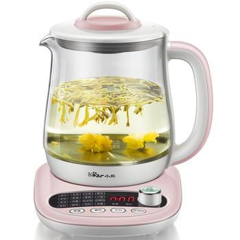 小熊养生壶全自动玻璃一体多功能电热花茶壶热水壶