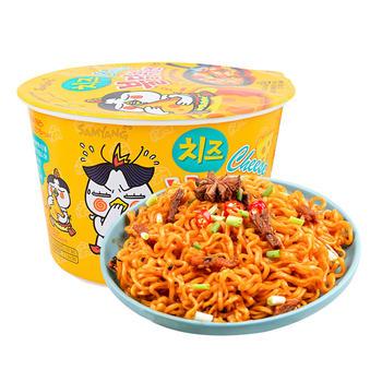 韩国三养辣鸡肉味芝士碗面105g*1碗即食速食拌面泡面