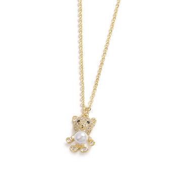 【99元3件】CROCUS时尚百搭气质甜美呆萌的泰迪小熊锁骨项链61672
