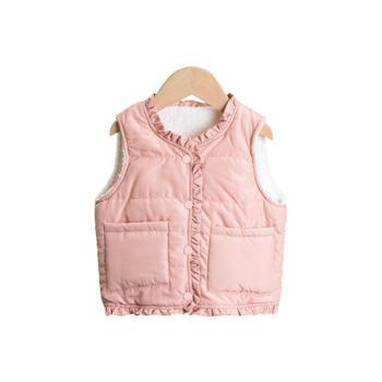 Cipango 冬季泰迪绒保暖马甲 婴幼儿小童外出服背心马甲