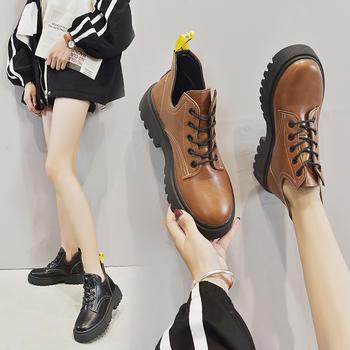 Tatyana秋季英伦风马丁靴女新款厚底短靴