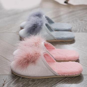舒适与美丽的结合 远港可爱女士居家拖鞋秋冬新款