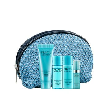 珀莱雅水漾芯肌化妆包赠品四件套洁面10+水8+乳8+精华5