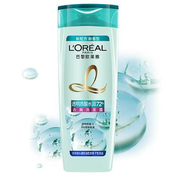欧莱雅透明质酸水润洗发露 200ml,净爽控油,水润发丝