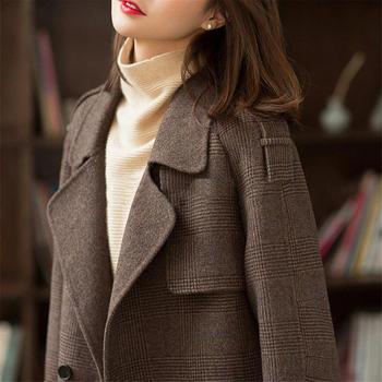 大衣女中长款新款显瘦英伦风高端复古毛呢外套女