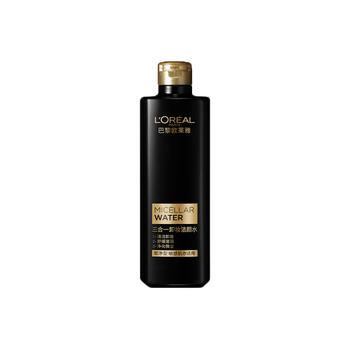 欧莱雅(L'Oreal)三合一卸妆洁颜水 炭净型400ml
