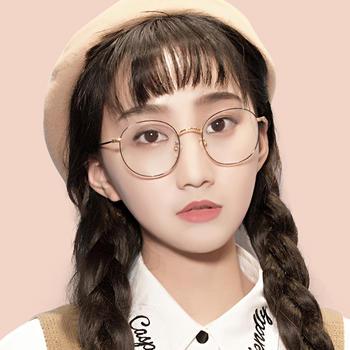 威古氏时尚圆框防蓝光眼镜学生眼镜框韩版网红款平光眼镜