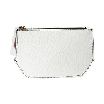 雅诗兰黛白色化妆包 简约经典大气便携大容量手拿包女包