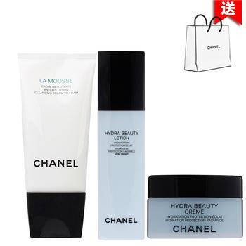 Chanel香奈儿山茶花护肤化妆品套装补水保湿 三件套装(干性肌肤)