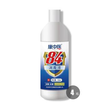 84消毒液500ml*4  消毒强力去污漂白居家必备