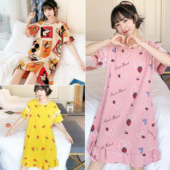 【半价抢 45/2件 85/4件】韩版棉质女睡裙大码小清新睡衣舒适家居服