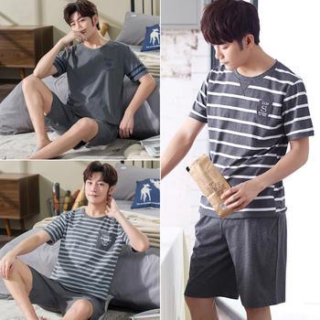 【69元2套 99元3套】韩版棉质男士睡衣套装加大码短袖家居服夏季