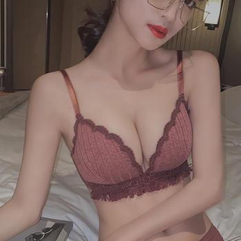 阿弗之吻 性感三角杯内衣女小胸聚拢无钢圈舒适调整型文胸