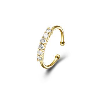 C&C 大S联名系列镀18K金戒指女个性简约戒子开口可调节指环尾戒