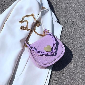 麦尔本时尚简约流行ins潮范网红百搭洋气小仙女石头纹斜挎马鞍女包