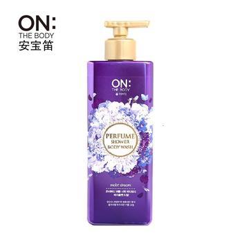 韩国LG OnTheBody安宝笛美肌香水沐浴露 持久留香500g梦中魅惑紫