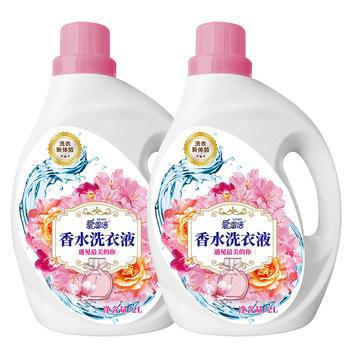 爱恩倍香水护理洗衣液深层去渍香氛持久留香 2kg*2桶共8斤