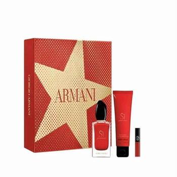 阿玛尼香水礼盒限定套装 SI红色迷情香水50ml+身体乳75ml +香水小样